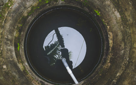 Inside a well